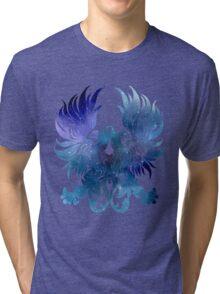 Gray Warden glaxy crest Tri-blend T-Shirt