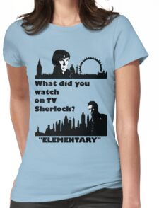 Sherlock meets Elementary  Womens Fitted T-Shirt
