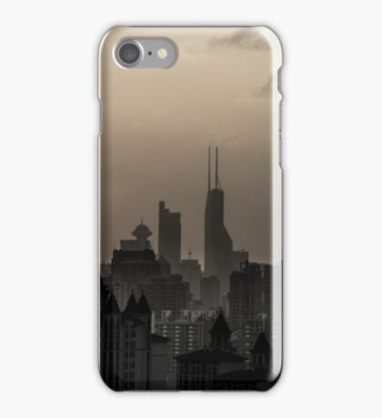 Shanghai skyline in dusk iPhone Case/Skin