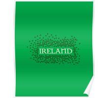 Ireland Shamrocks Poster