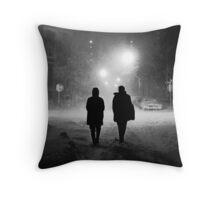 Mayor Lindsay's Snow Storm Throw Pillow