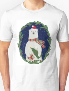 Polar bear with Christmas tree T-Shirt