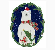 Polar bear with Christmas tree Unisex T-Shirt