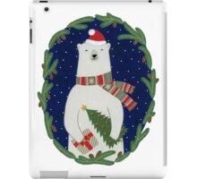 Polar bear with Christmas tree iPad Case/Skin