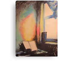 Flame (Window Light) Canvas Print