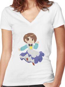 Harvest Moon - Little Eli Women's Fitted V-Neck T-Shirt