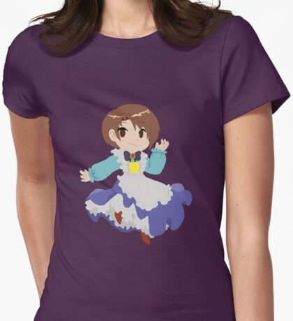Harvest Moon - Little Eli Womens Fitted T-Shirt