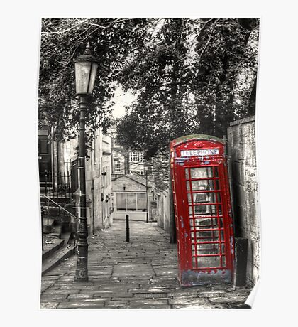 Telephone Box in alleyway Poster