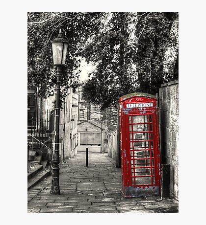Telephone Box in alleyway Photographic Print