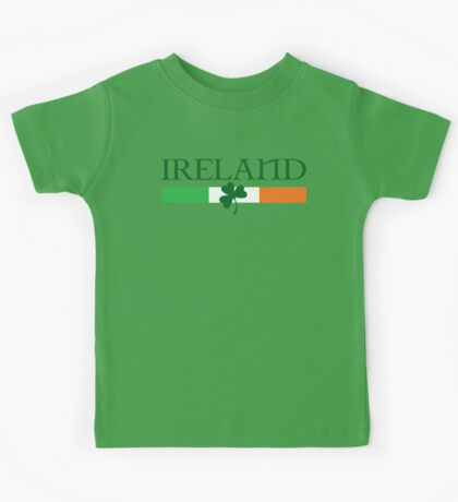 Ireland Flag, shamrock Kids Tee