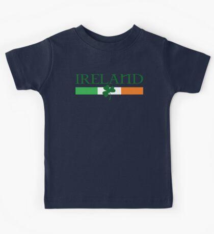 Ireland Flag, shamrock Kids Tee