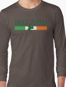 Ireland Flag, shamrock Long Sleeve T-Shirt