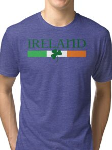 Ireland Flag, shamrock Tri-blend T-Shirt