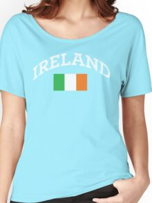 Arched Ireland with flag Women's Relaxed Fit T-Shirt