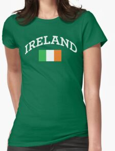 Arched Ireland with flag Womens Fitted T-Shirt