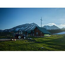 Mountain Cottage  Photographic Print
