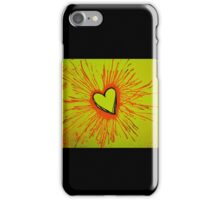 Yellow and Red Exploding Heart iPhone Case/Skin