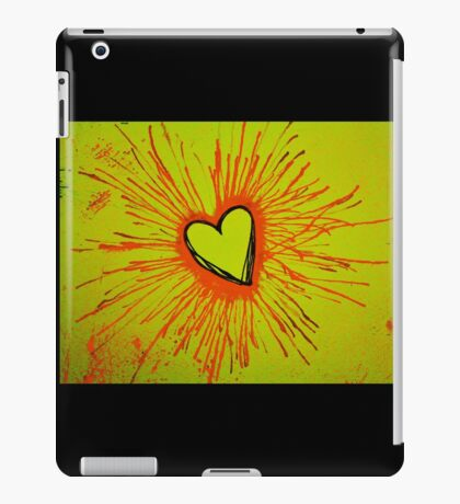 Yellow and Red Exploding Heart iPad Case/Skin