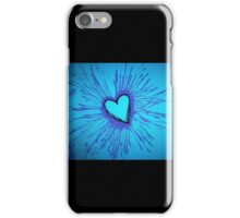Blue and Purple Exploding Heart iPhone Case/Skin