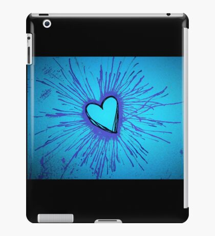 Blue and Purple Exploding Heart iPad Case/Skin
