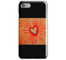 Exploding  Heart Red iPhone Case/Skin