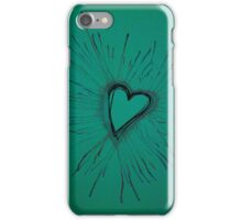 Turquoise Exploding Heart  iPhone Case/Skin
