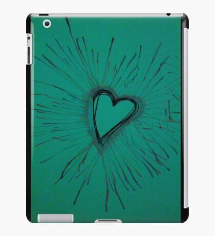 Turquoise Exploding Heart  iPad Case/Skin