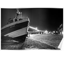 Filey Boats - By Night Poster