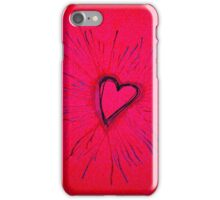 Hot Pink and Red Exploding Heart iPhone Case/Skin