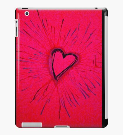 Hot Pink and Red Exploding Heart iPad Case/Skin