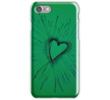 Green Exploding Heart iPhone Case/Skin