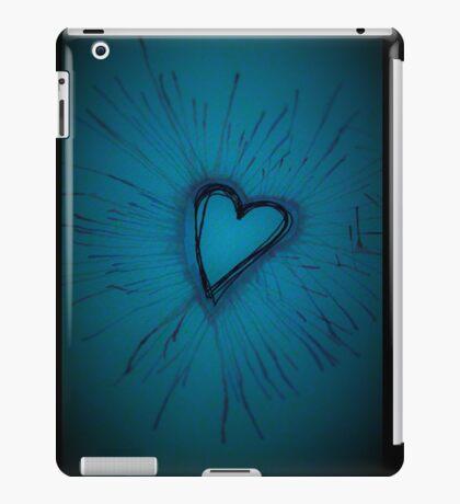 Deep Blue Exploding Heart iPad Case/Skin