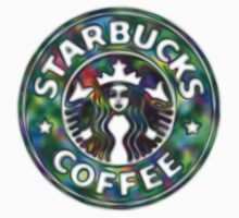 Starbucks, Multi colour logo, Chrome effect Sticker by NathPrend