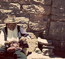 Taquile Knitting by nick board