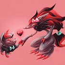 Pokemon - Zorua & Zoroark Valentines by powercami5000
