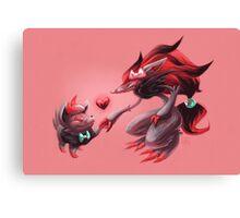 Pokemon - Zorua & Zoroark Valentines Canvas Print