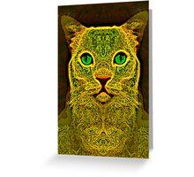 Electric Kitty Greeting Card