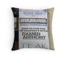 Big Game Headquarters ! Throw Pillow