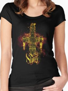 shiny spaceship Women's Fitted Scoop T-Shirt