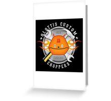 Glottis Custom Choppers Greeting Card