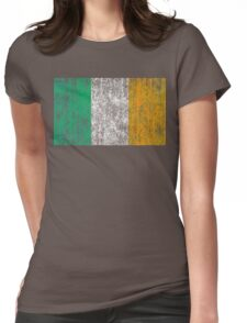 distressed irish flag Womens Fitted T-Shirt