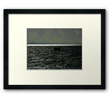 Boat On Aegean Sea Framed Print