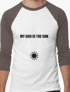My god is the sun 2 Men's Baseball ¾ T-Shirt