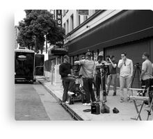 Crew filming a commercial. Canvas Print