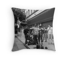 Crew filming a commercial. Throw Pillow