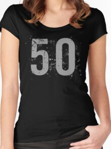 Cool Grunge 50th Birthday T-Shirt Women's Fitted Scoop T-Shirt