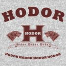 Hodor language school (dark red) by karlangas