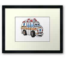 Cartoon Ambulance Framed Print