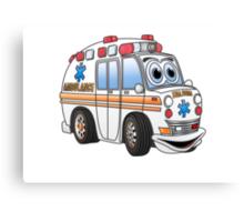 Cartoon Ambulance Canvas Print