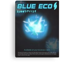 Blue Eco Canvas Print